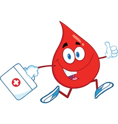Medical drop of blood vector image vector image