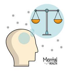 Mental health head balance image vector