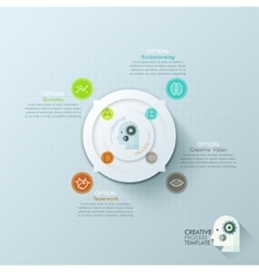 Modern infographics options banner with 4-options vector image vector image