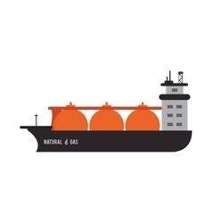 Natural gas ship icon vector