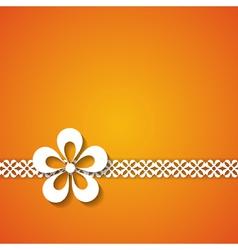 orange greeting card vector image vector image