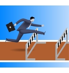 Over the obstacles business concept vector