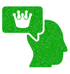 Person dream crown icon grunge watermark vector