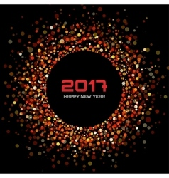 red confetti circle New Year 2017 background vector image vector image