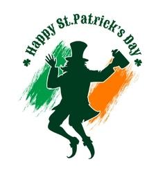 Saint Patricks Day Emblem vector image vector image