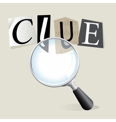 Searching for a clue vector image