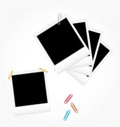 set of photo frames vector image