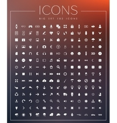 Set of Universal Web Icons vector image