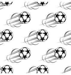 Soccer ball speeding through the air vector
