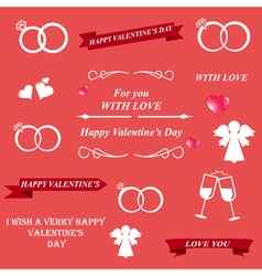 Valentines day and lettering greeting card vector image vector image