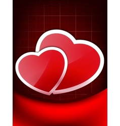 Valentines Red Abstract Wallpaper EPS 10 vector image vector image