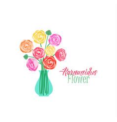 Vase of flowers vector