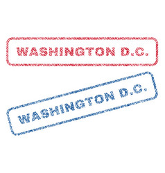 Washington dc textile stamps vector