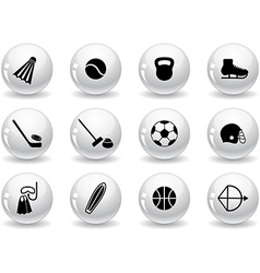 Web buttons sport equipment icons vector