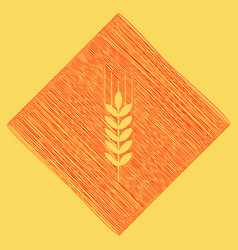 Wheat sign spike spica red vector