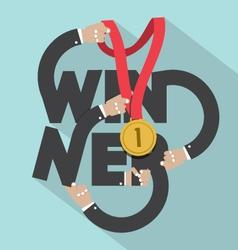Winner typography design vector