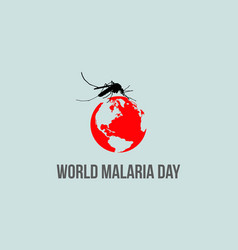 World malaria day background vector