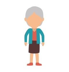 Old woman cartoon vector