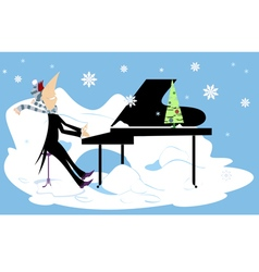 Winter concert vector