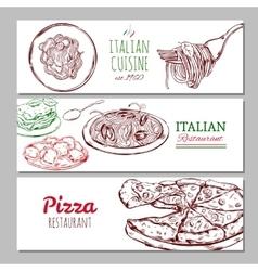 Italian Restaraunt Horizontal Banners vector image