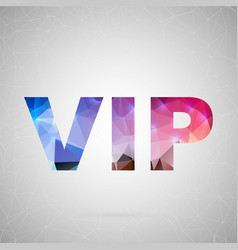 abstract creative concept icon of vip for vector image