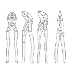 locksmith tools icons vector image