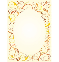 Floral frame background vector