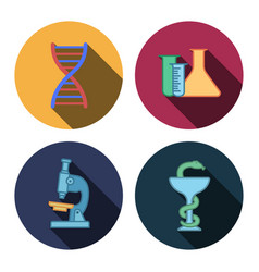 Four flat medicine icons vector