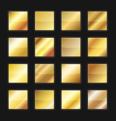 Gold gradient background textures set vector