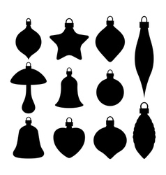 A set of Christmas baubles vector image