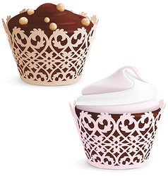 Cupcake and muffin vector