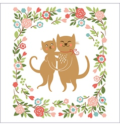 Cute cartoon cats vector