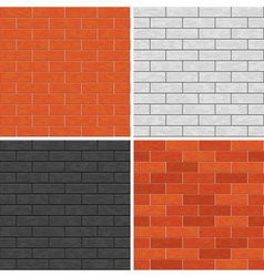Seamless brick wall patterns vector