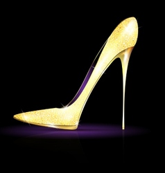 Big gold shoe vector