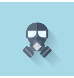 Flat web internet icon Gas mask vector image