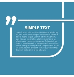 Square quote text bubble vector