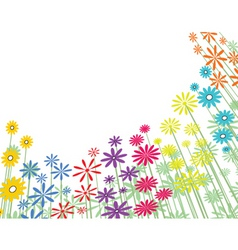 Basic flowers vector