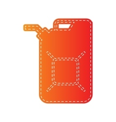 Jerrycan oil sign jerry can oil sign orange vector