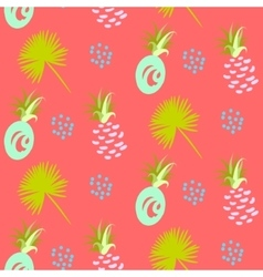 Pineapple abstract exotic coral seamless vector