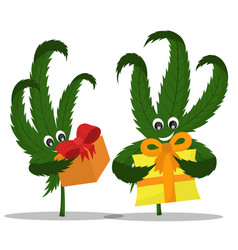 A picture of a hemp with a gift vector
