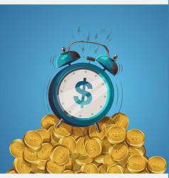 Alarm clock dollar vector
