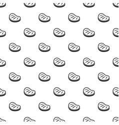 beef steak pattern vector image vector image