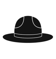 Canadian hat icon simple style vector