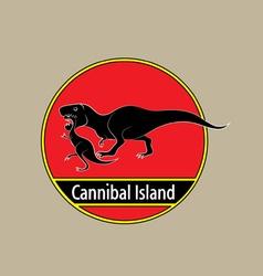 Cannibal island vector