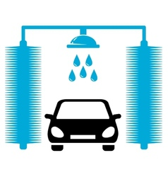 Car wash icon vector