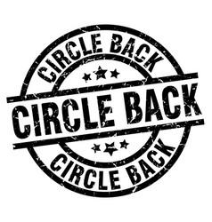 Circle back round grunge black stamp vector