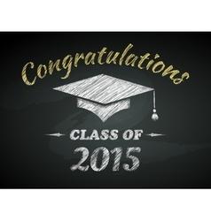 Class of graduation poster vector