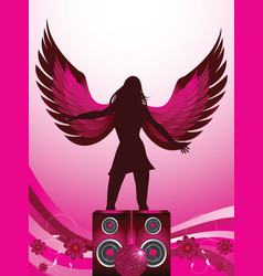 dance angel vector image vector image