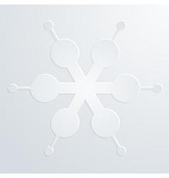 embossed snowflake vector image vector image