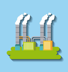 factory building green energy manufacturing and vector image